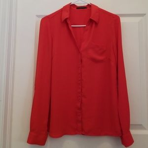 NWOT. The Limited Red Ashton Blouse